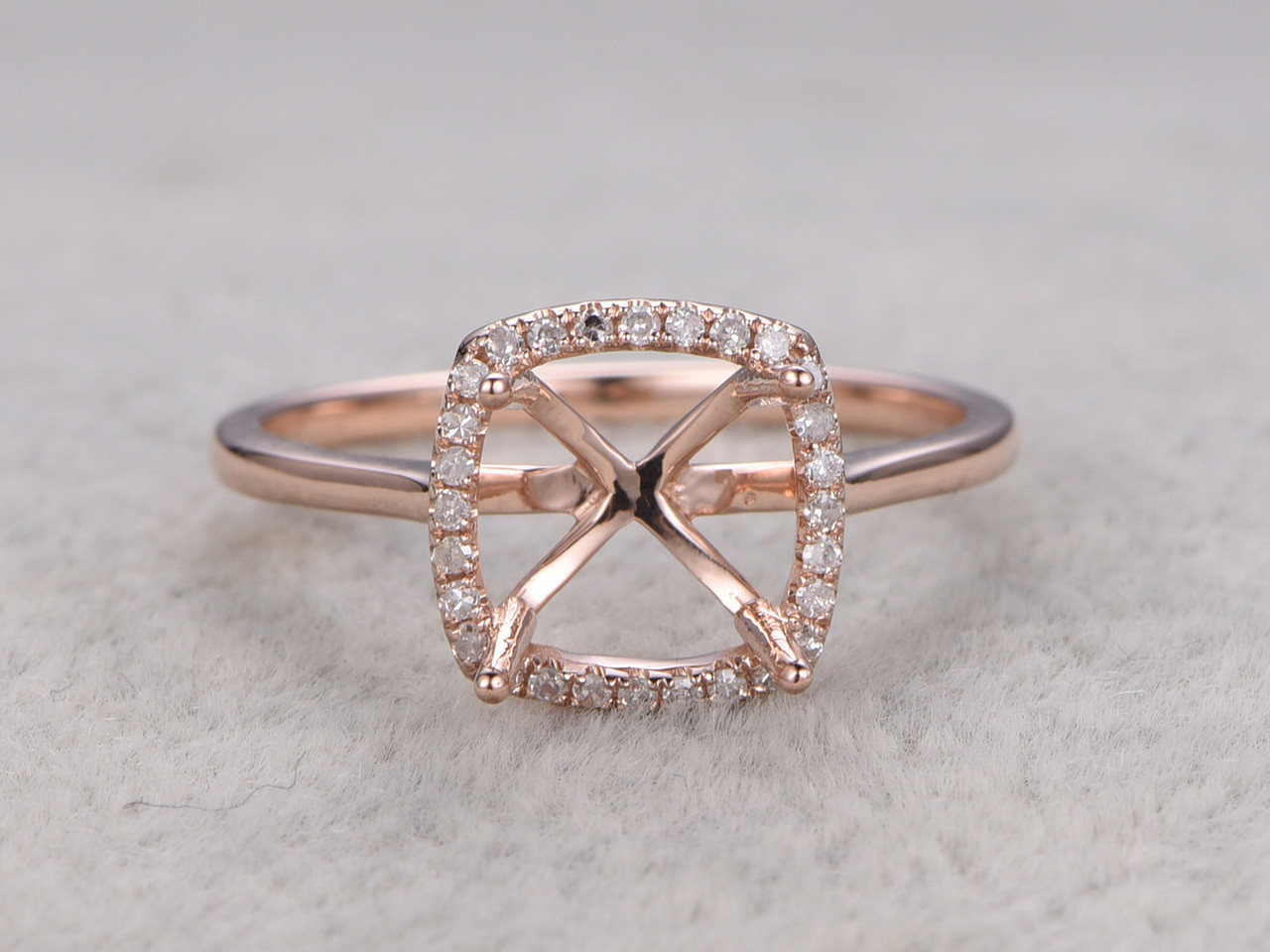 wedding square engagement cut diamond under ring glamour accent white siudy gold bands bezelset net rings halo