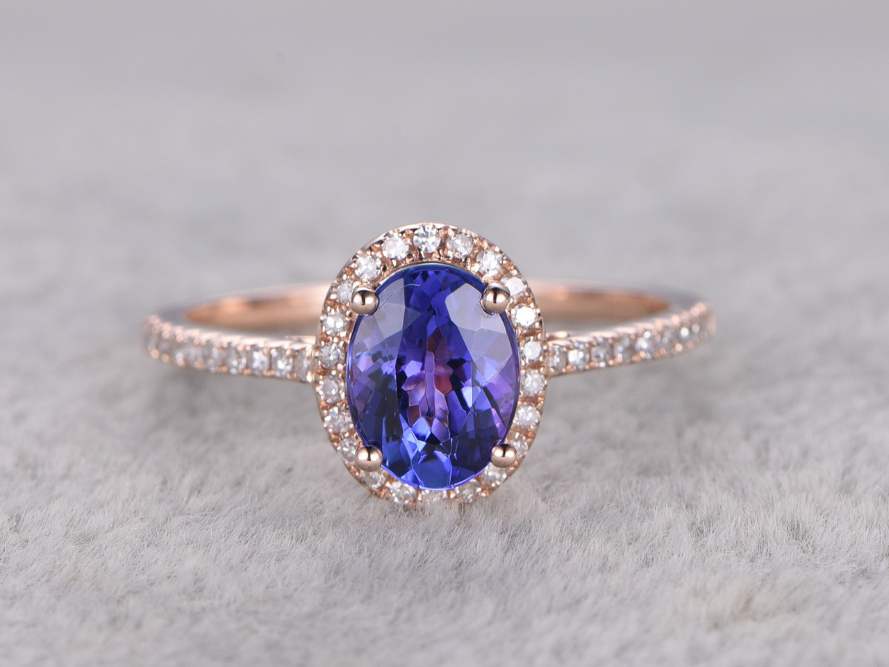 bands halo in side richland diamond ring ct k oval gemstones product tanzanite engagement