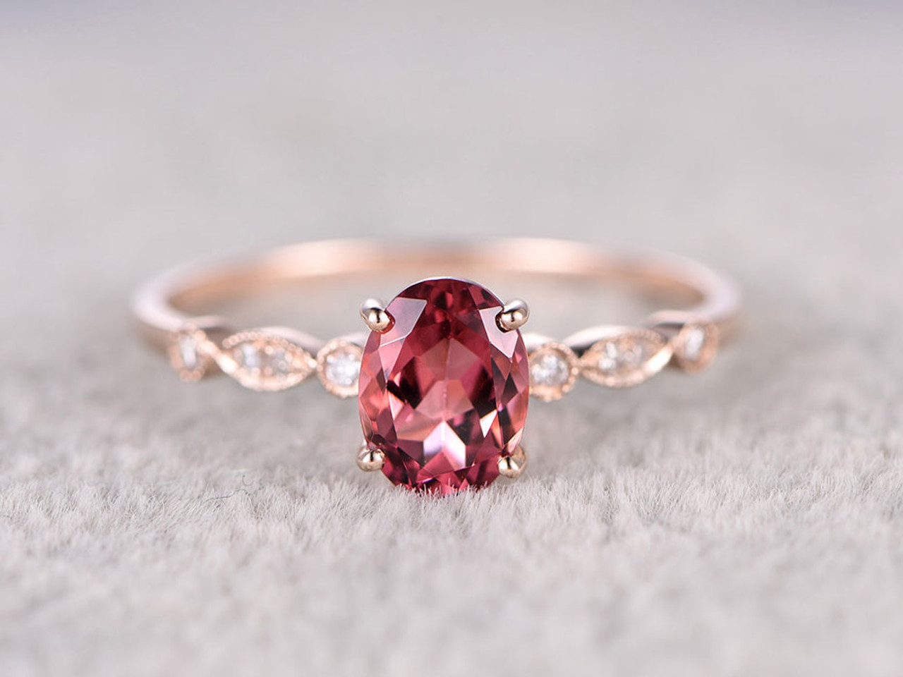 color oval stone big silver pink cz item cut crystal white amazing finger super gold ring rings