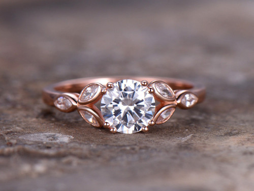 High Quality Cubic Zirconia Engagement Rings Cheap Sterling Silver
