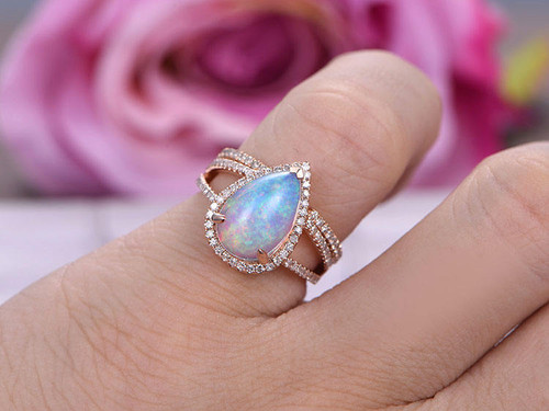 samodz cut rings engagement opal ring princess