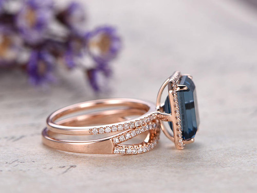 ... Topaz Ring Set; London Blue Topaz Engagement ...
