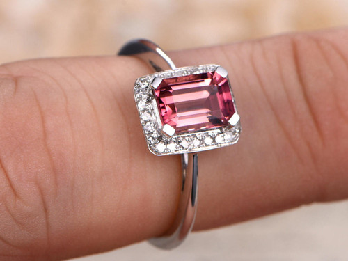 diamond custom i gemstone tourmaline kind link of wedding raw rose gold ring a engagement rings one pink