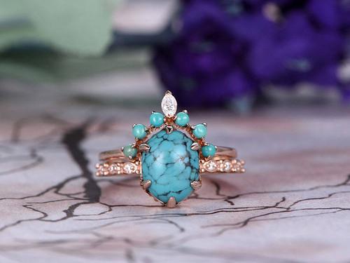 Turqoise engagement Rings