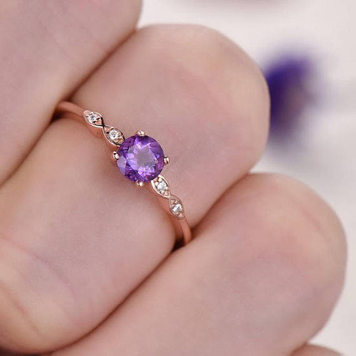 ring gold french diamond engagement white princess rings wgdla classic ct lilac p amethyst