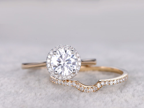 deep tone diamond two vintage rings ring wedding curve curved