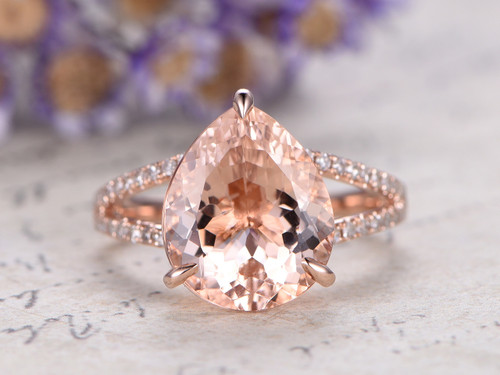 3 Carat Morganite Ring