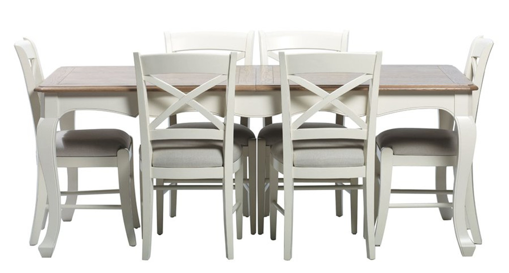 Bella House Chateau Ext. Dining Table 290cm A/Cream