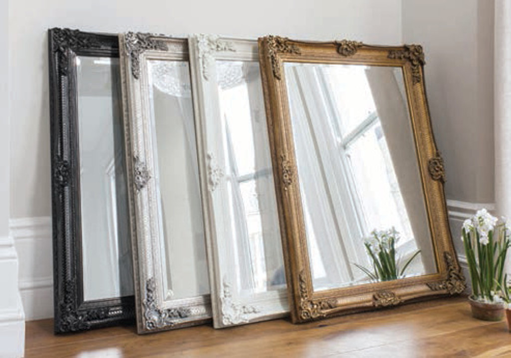 """Abbey Rectangle Mirror Black 43x31"""""""" Gallery Direct"""""""""""