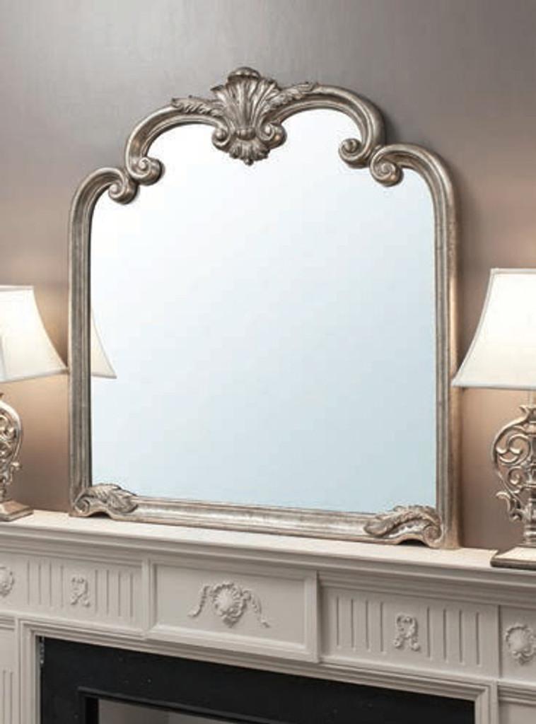 "Palazzo Mirror Silver 41x45"""" Gallery Direct"""""