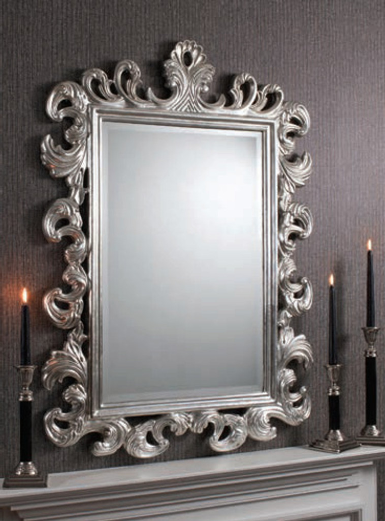 "Royale Mirror Silver 44x32"""" Gallery Direct"""""