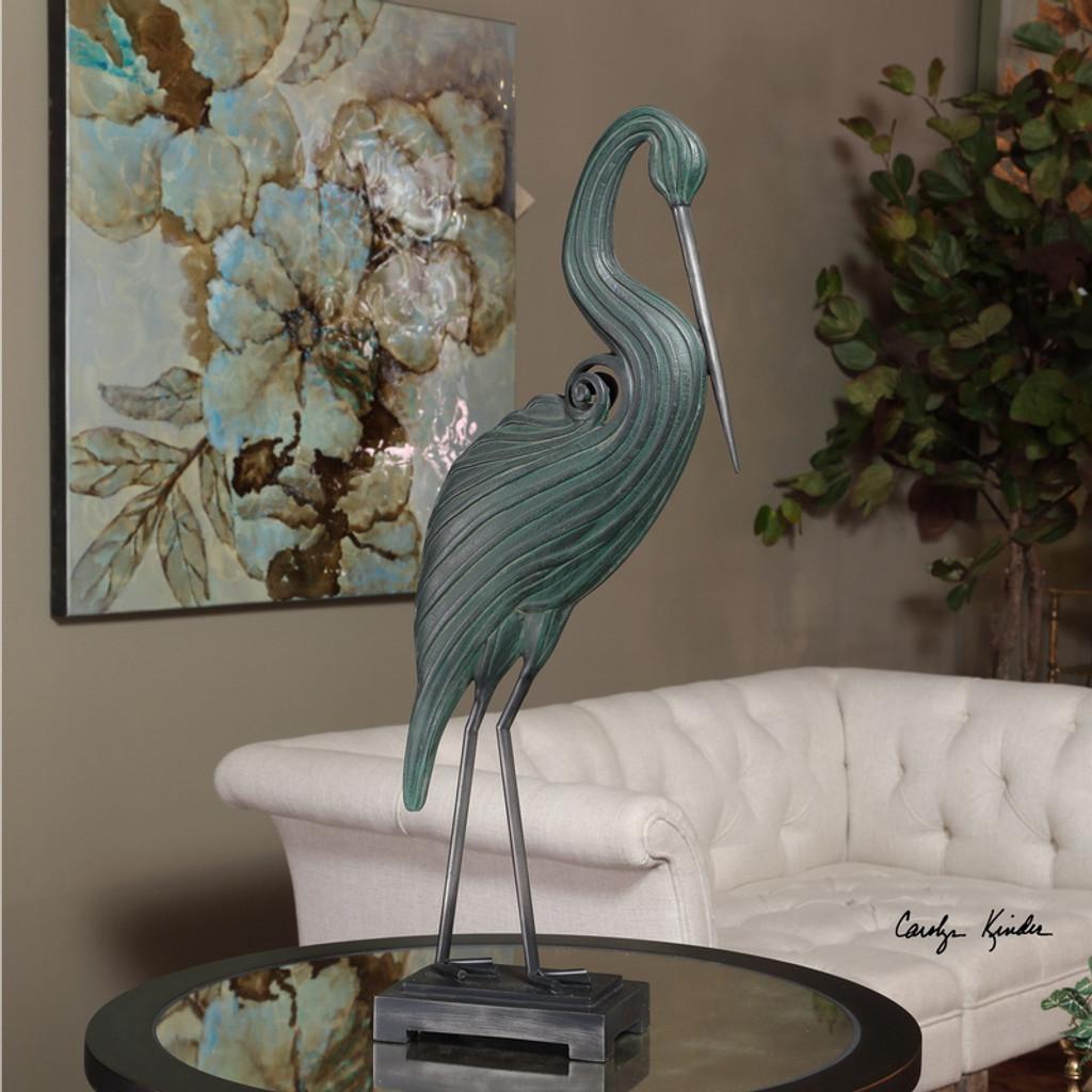 Keanu Heron Sculpture