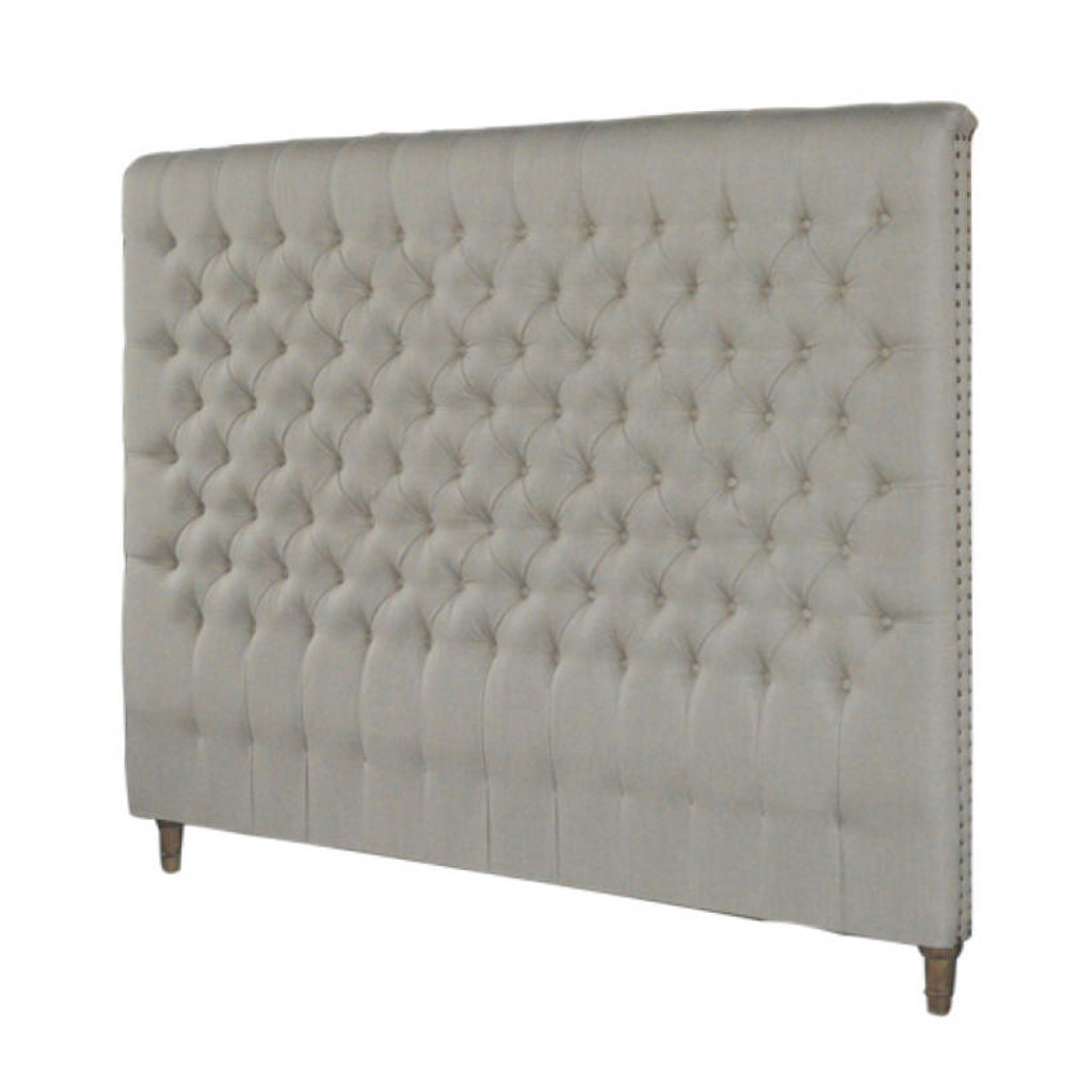 Marquis Upholstered King Headboard (Natural)
