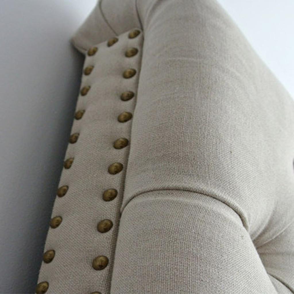 Marquis Upholstered King Headboard - Bronze Studs