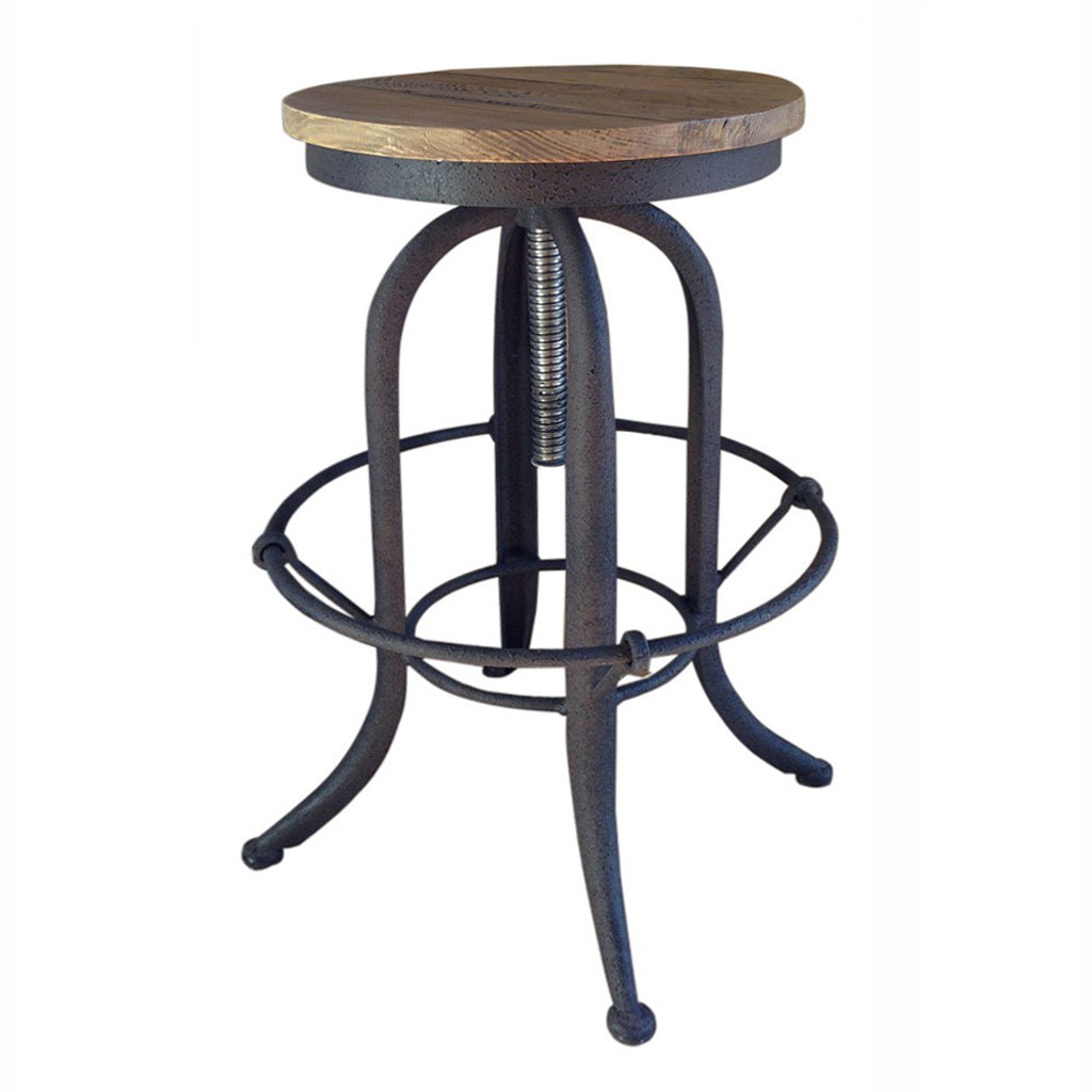 Toledo Industrial Counter Stool Natural Iron Maison Living