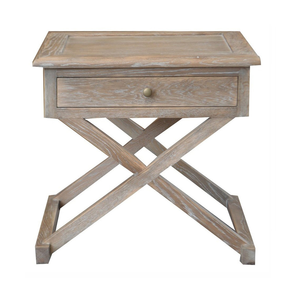 Xavier Side Table - Burnt Oak
