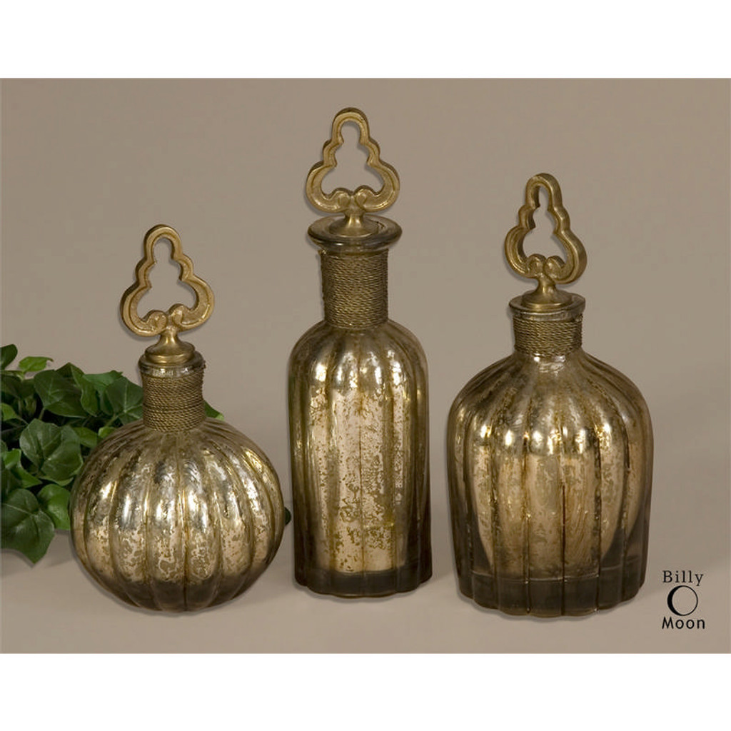 Kaho Perfume Bottles - Set of 3 by Uttermost