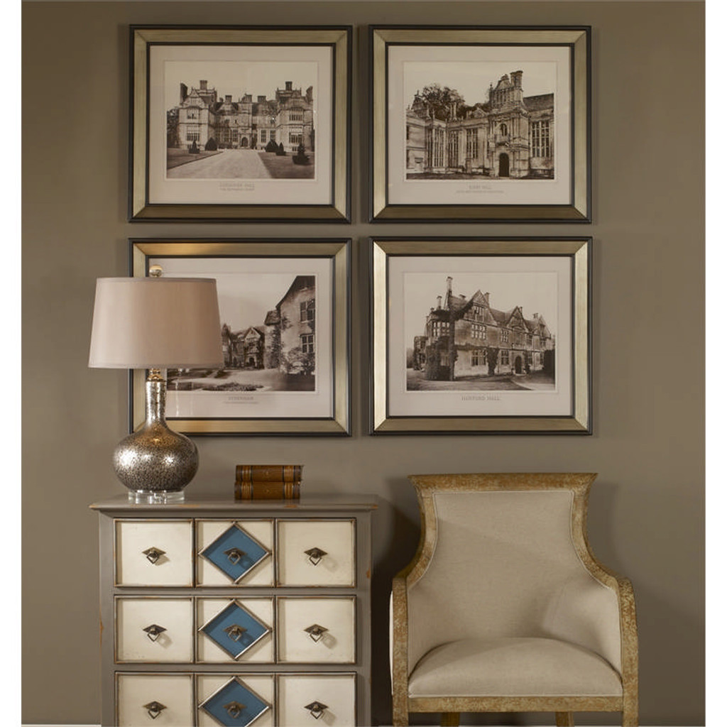 English Cottage Set of 4 a Prints Framed by Uttermost