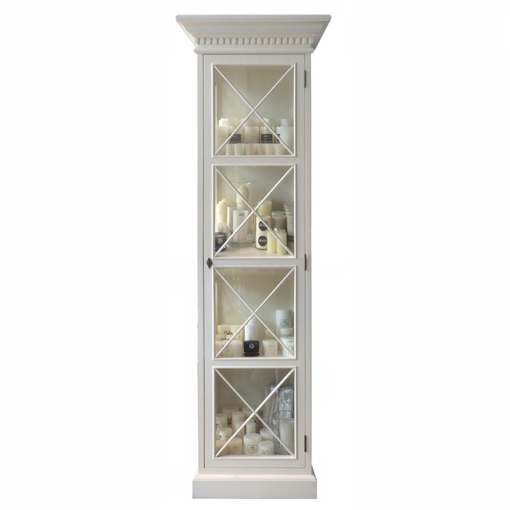 French Cross Display Cabinet 1 Door - Antique White  sc 1 st  Maison Living & French Cross Display Cabinet 1 Door - Antique White - French English ...