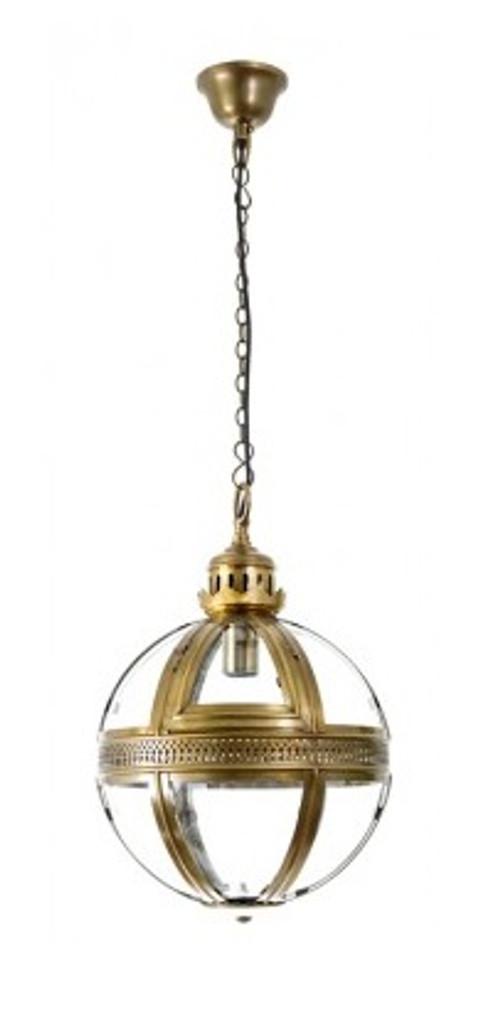 Saxon Pendant Light A/Brass Small 32cm