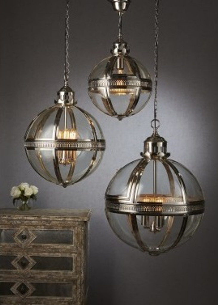Saxon Pendant Light A/Brass Large 55cm