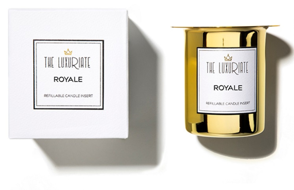 The Luxuriate Royal Candle Refill Insert and box