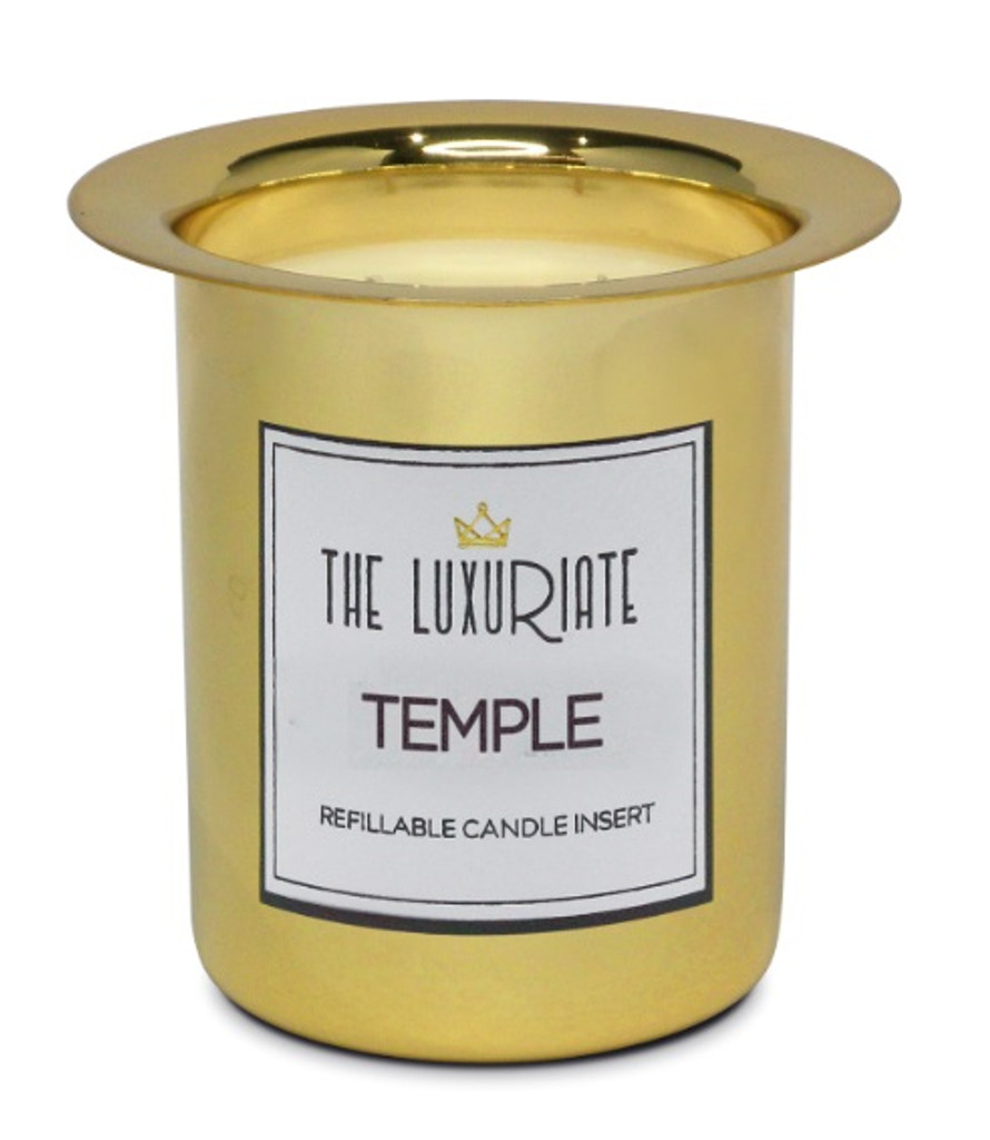 The Luxuriate Temple Candle Refill Insert