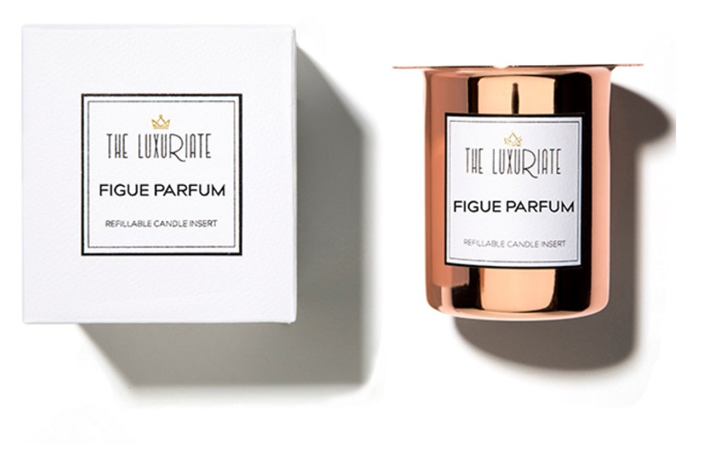 The Luxuriate Figue Parfum Candle Refill Insert and Box