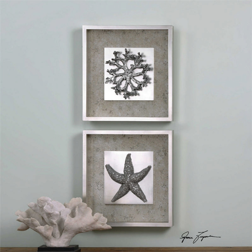 Starfish & Coral Set/2 - Framed Artwork a Prints Framed by Uttermost