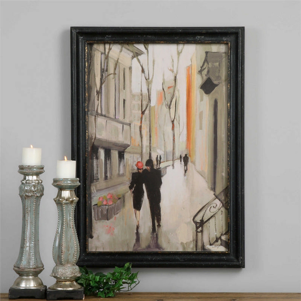 Village Promenade - Framed Artwork a Prints Framed by Uttermost