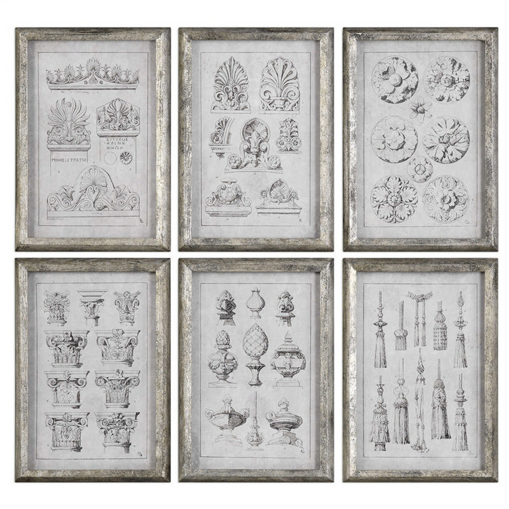 Architectural Accents Set/6 - Framed Artwork