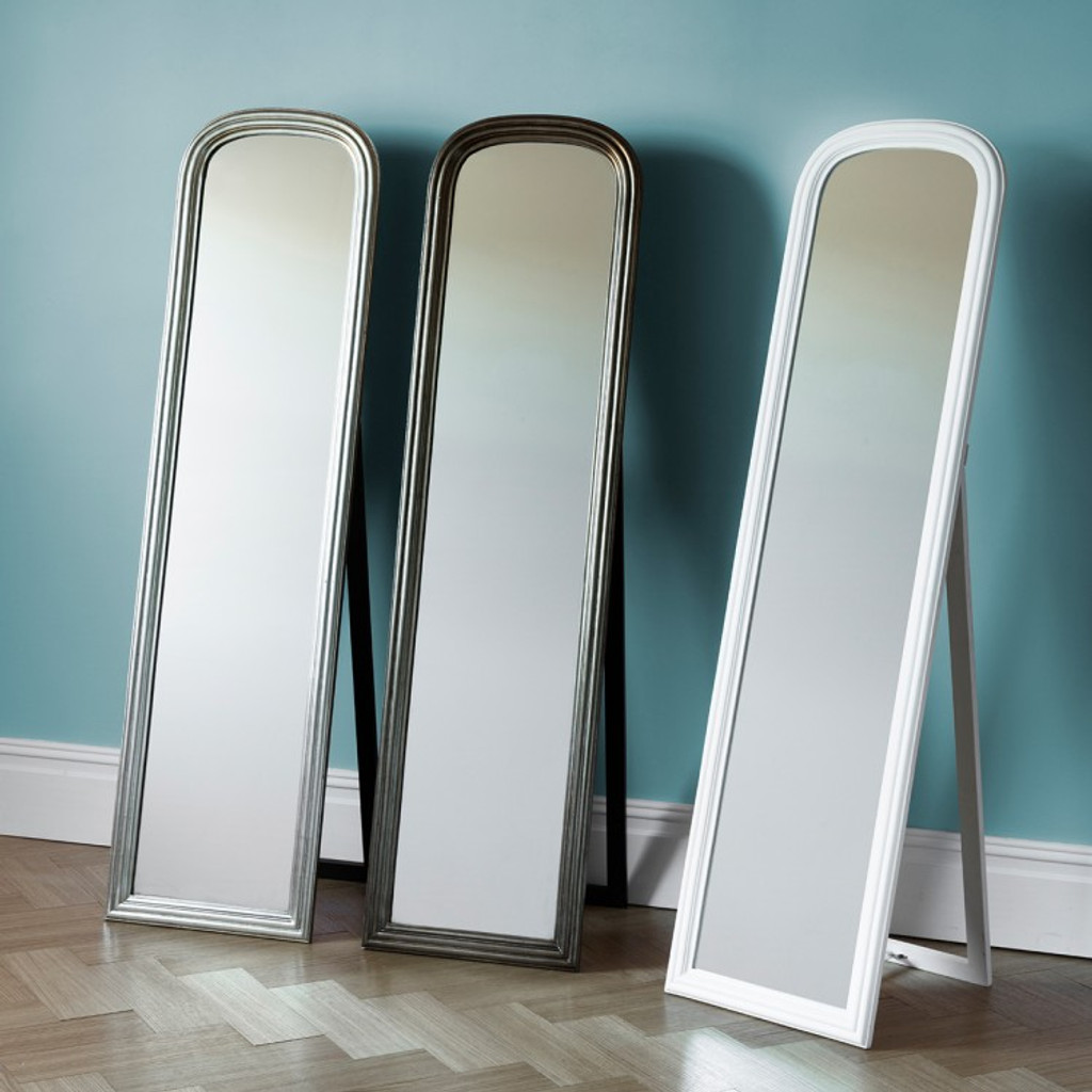 Beck Cheval Mirror - Silver - Located on far left