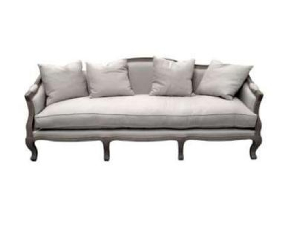Moliere 3 Seat Sofa - Weathered Oak/Linen