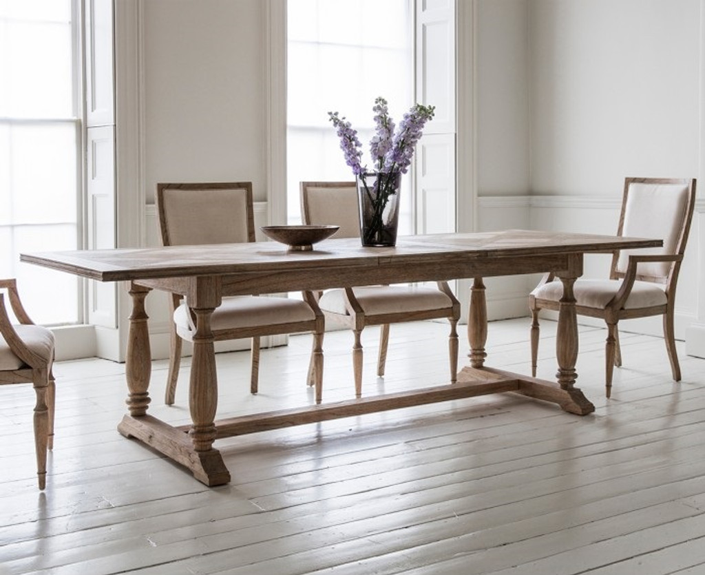 Newhaven Parquetry Extension Dining Table   Extended, 250cm