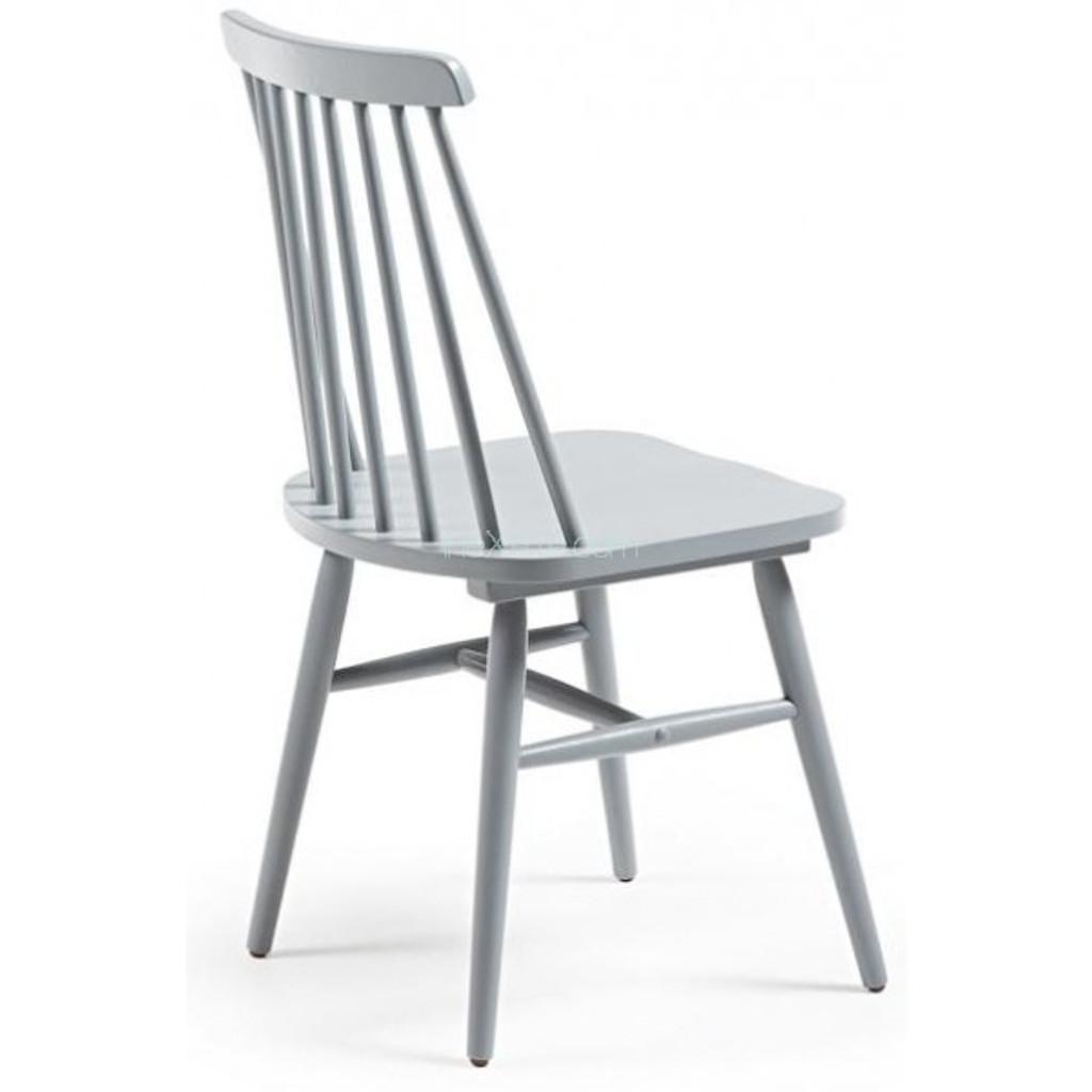 Kristie Wooden Chair - Light Grey