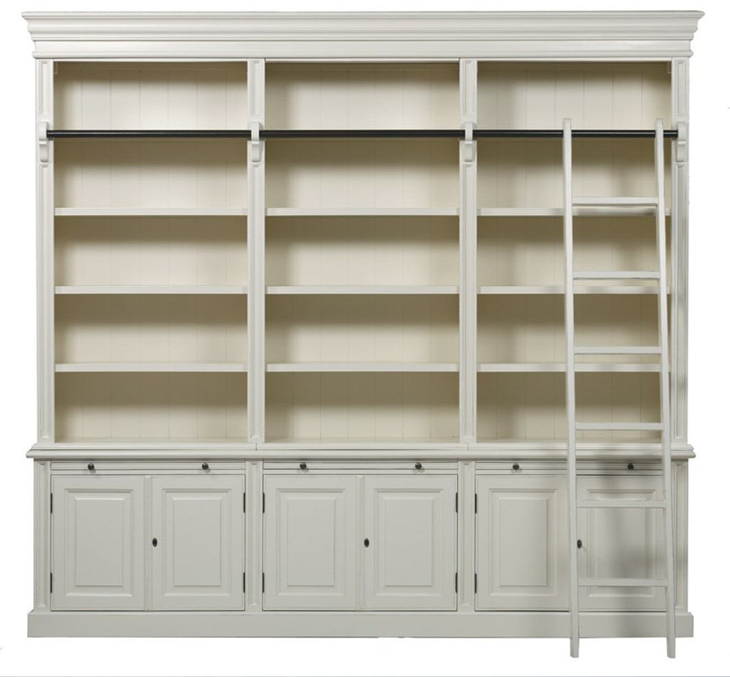 Bella House Classic 6 Door Bookcase + Ladd
