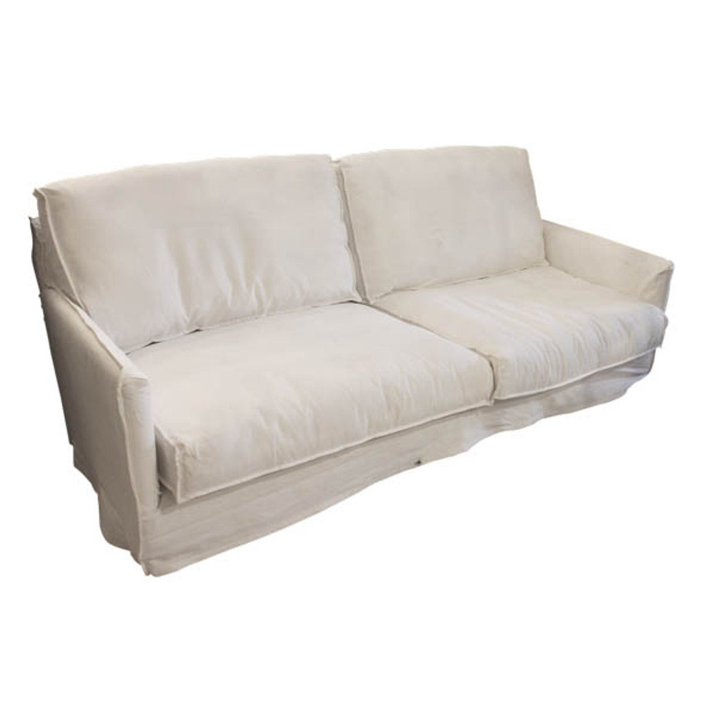West Hampton White Slip 3 Seat Sofa