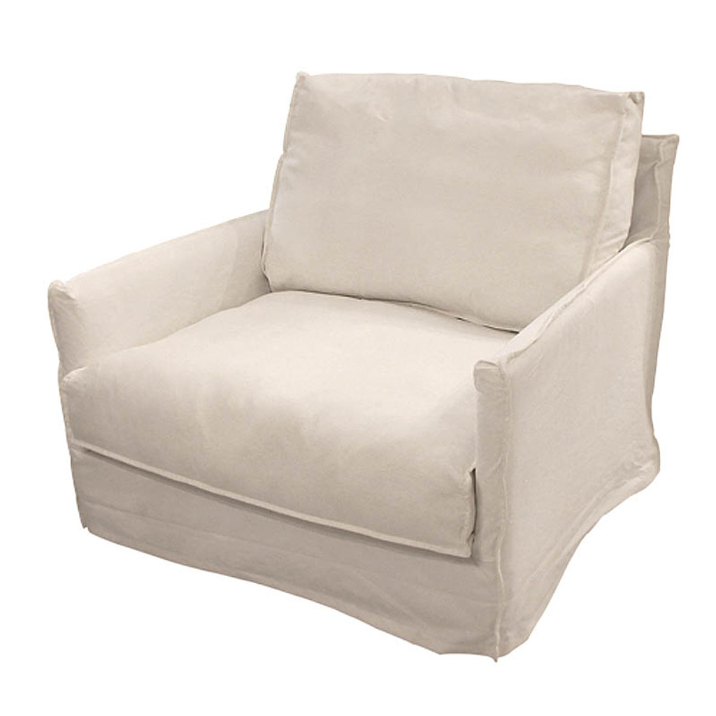 West Hampton White Slip Armchair