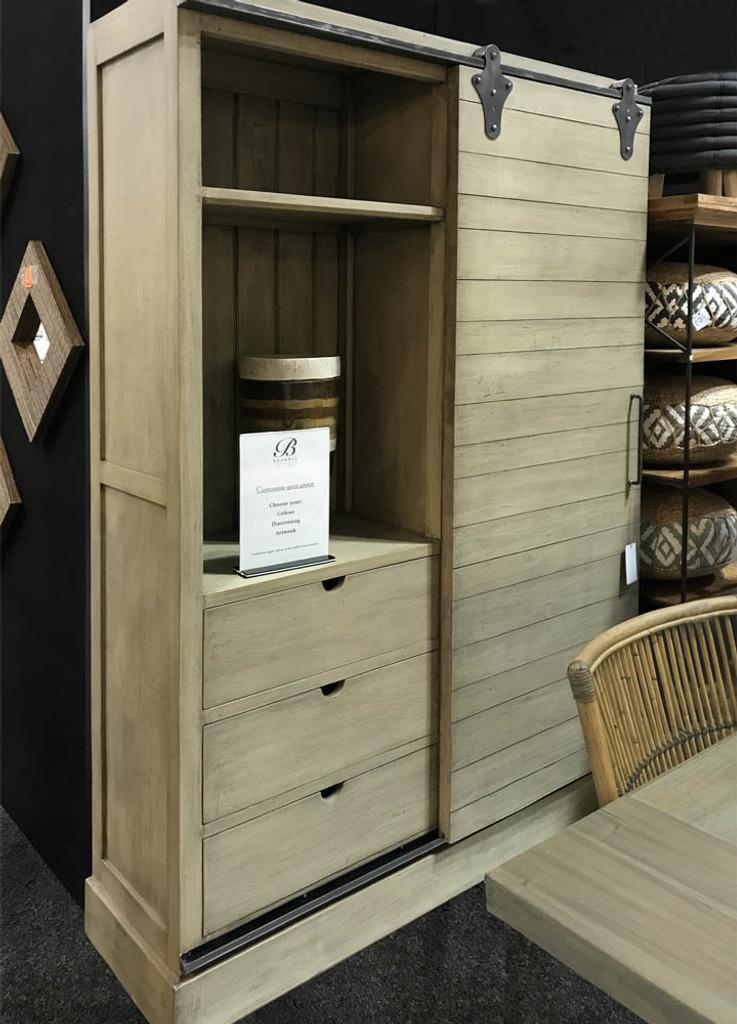 Sanoma Kitchen Cupboard With Sliding Door Oak Furniture Kitchen