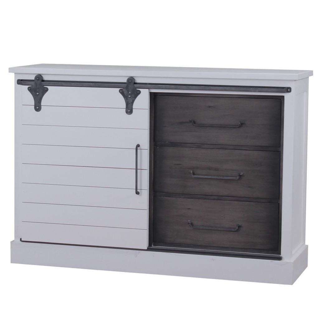 Sonoma Buffet with Sliding Door - Size: 107H x 157W x 46D (cm)
