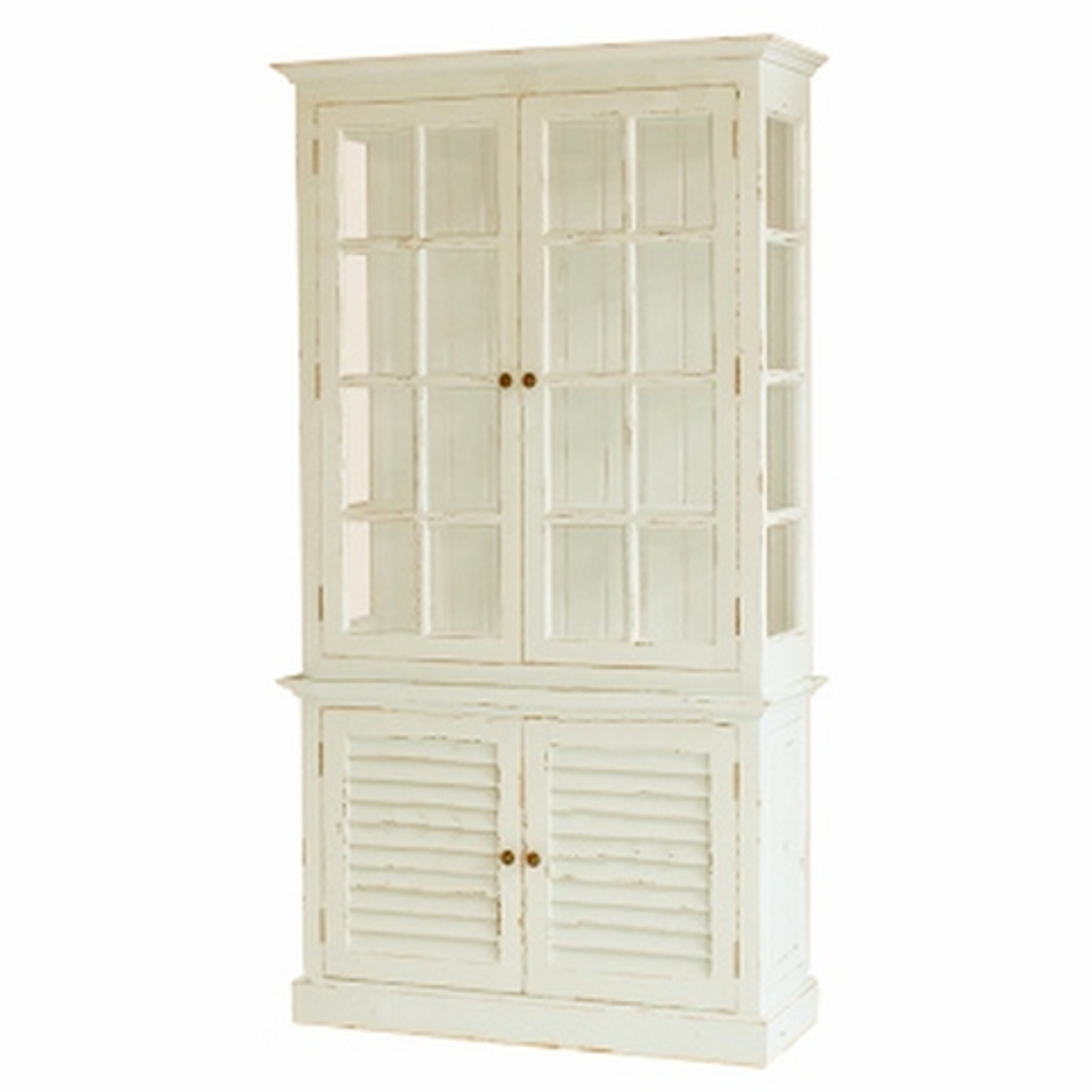Modern Country Style Anne Turner S Cottage Living Kitchen: Hamptons 2Dr Display Cabinet With Glass