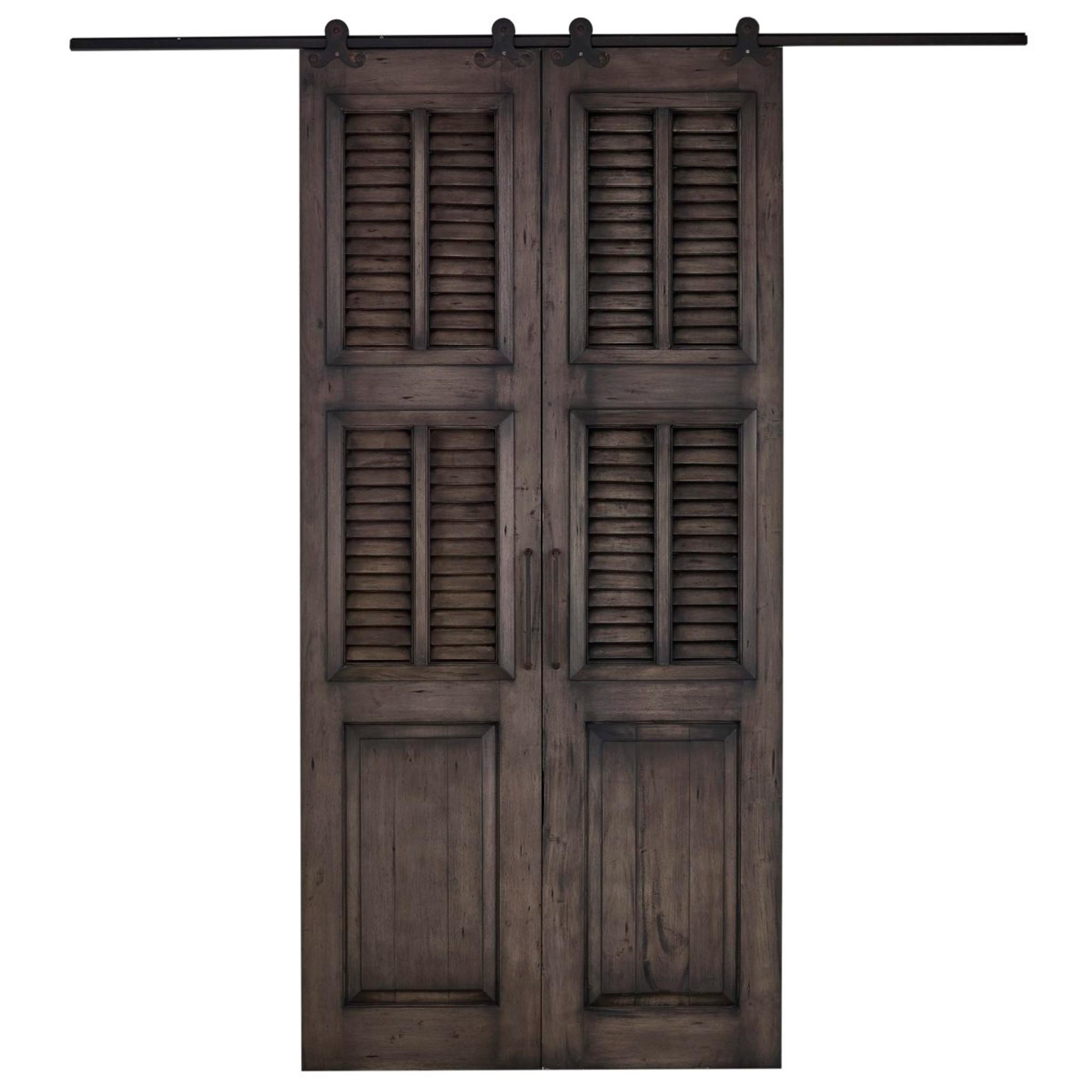 Cottage Double Split Shutter Sliding Door Any Colour Accessories