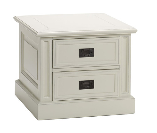 Classic End Table 2 Drawer - Antique White