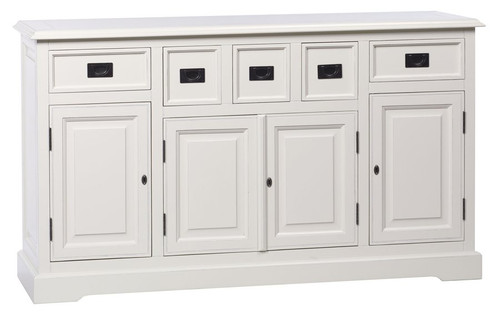 Bella House Classic 5 Drw Buffet White
