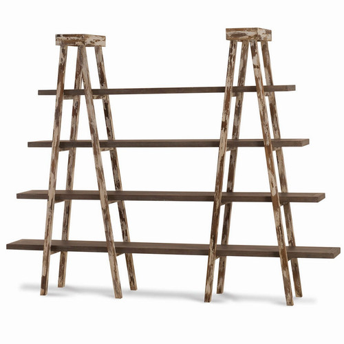 Taylor Double Ladder Shelf - Size: 180H x 231W x 41D (cm)
