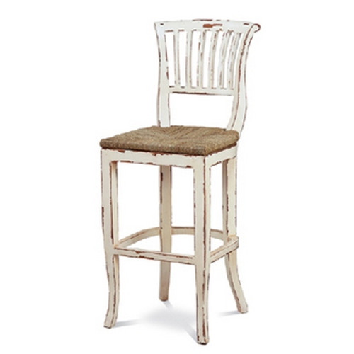 Manchester Barstool - White Heavy Distressed
