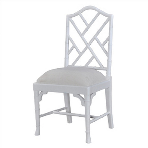 Martinique Bamboo Dining Chair - White Light Distressed