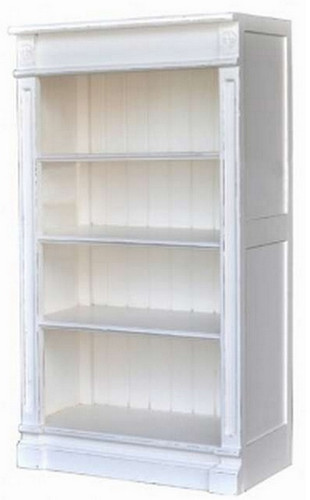 Roosevelt Bookcase Module 4 Shelf - White Light Distressed