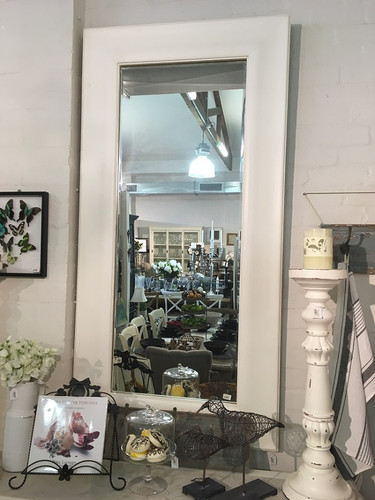 Showood Mirror - Light White Distressed