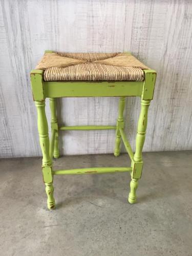 Veranda Counter Stool - Groovy Green Heavy Distressed